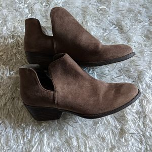 George |Suede Style Ankle Booties